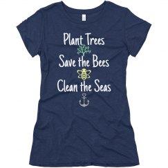 Trees, Bees & Seas