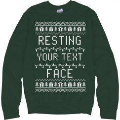 Resting Text Face Ugly Sweater