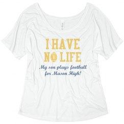 Football Mom Shirt Life