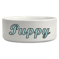Puppy Pet Bowl - Blue