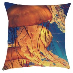 Jellyfish All Over Print Pillow