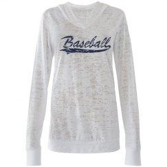 Baseball Burnout Hoodie