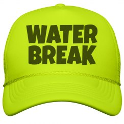 A Band Camp Water Break Neon Hat for Summer
