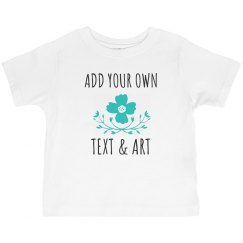 Custom Text Flower Toddler Tee