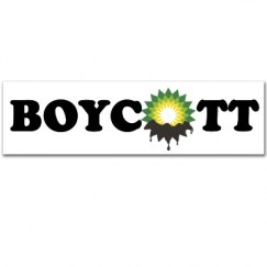 Boycott BP Oil Sticker