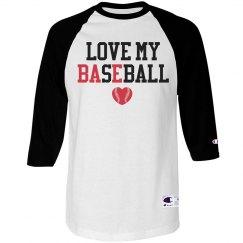 Love My Bae Baseball Girlfriend Shirt