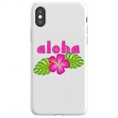 Pink Hibiscus Flower Aloha