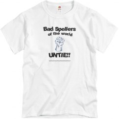 Bad Spellers white