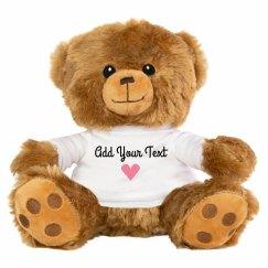 Custom Text Valentine's Day Bear