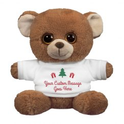 Custom Message Christmas Teddy Gift
