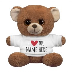I Love You Personalized Name Gift