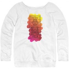 Villa Sunrise Paint Logo Relaxed Fit Sweatshirt