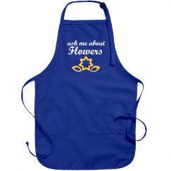Ask About Flowers Apron