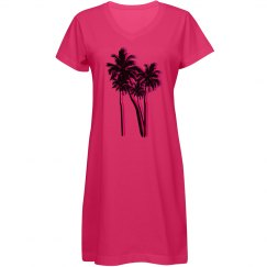 Tropical Print Cover Up