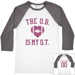 Cute Custom Quarterback Is My Cutie Crop