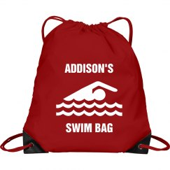 Addison's swim bag