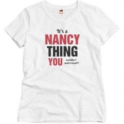 It's a Nancy thing