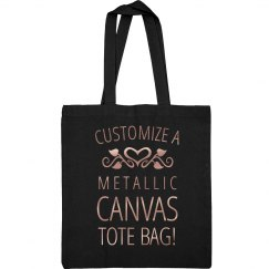 Customize A Metallic Canvas Tote Bag