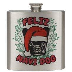 Christmas Dog Flask