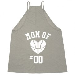 Ladies Flowy High Neck Premium Tank