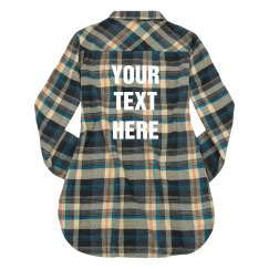 Add Custom Text Plaid Shirt