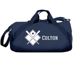 Colton's baseball bag