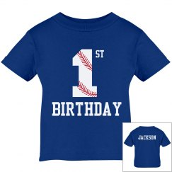 1st Birthday Baseball Shirt
