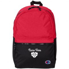 Custom Name & Basketball Emblem Backpack