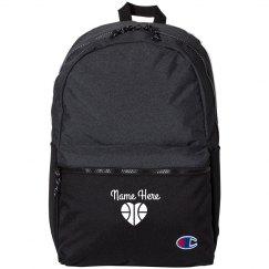 Custom Name & Basketball Emblem Backpack