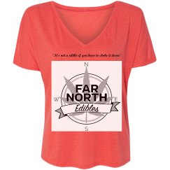 FNE Ladies Flowy Slouchy V-Neck T-Shirt