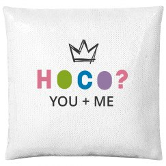 Custom Name Hoco Proposal Pillow