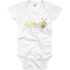 Bee Happy Baby Onesie