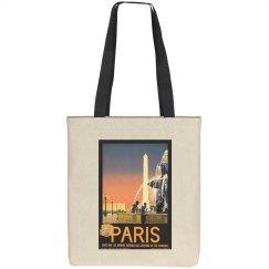 Vintage Paris tote