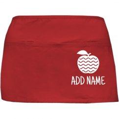 Custom Name Teacher Cute Apple