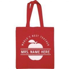 Cute World's Best Teacher Gift