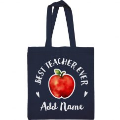 Best Teacher Ever Watercolor Custom