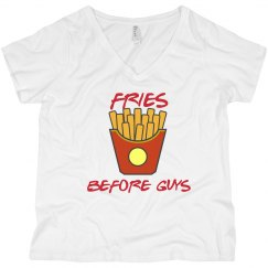 Fries before guy........