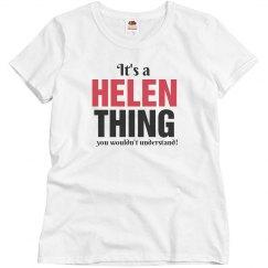 It's a Helen thing