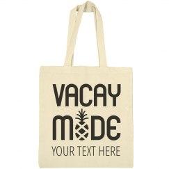 Vacay Mode Custom Beach Bags