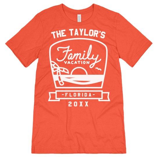 b2b04cfcfc23 Custom Beach Family Vacation Tees Unisex Jersey T-Shirt