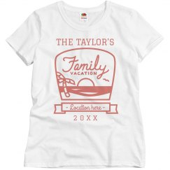 Custom Location Family Vacation Tee