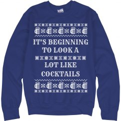 Funny Cocktails Ugly Sweater