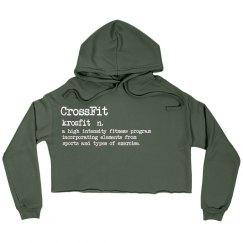 CrossFit Crop Hoodie