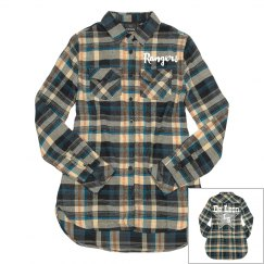 School Spirit Plaid Button Up Shirt