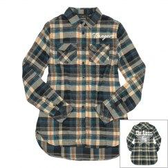 School Spirit Plaid Button Up Shirt