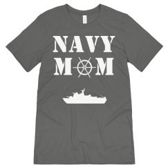 Navy Mom Heart