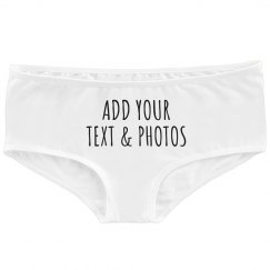 Custom Underwear Add Text & Photos