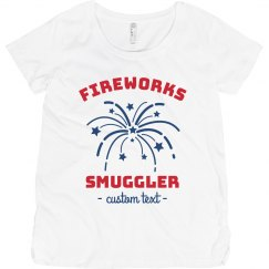 Red White & Blue Fireworks Smuggler Maternity Tee