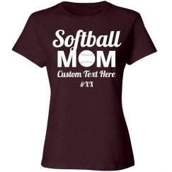 Softball Mom Custom Number
