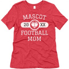 Custom Mascot Name Football Mom
